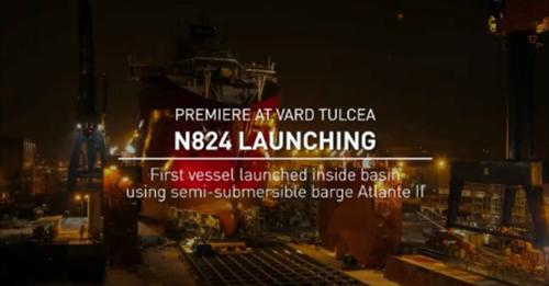 Portul Tulcea – Lansarea N824